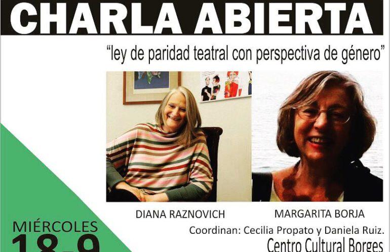 """""""Ley de paridad teatral con perspectiva de género"""""""