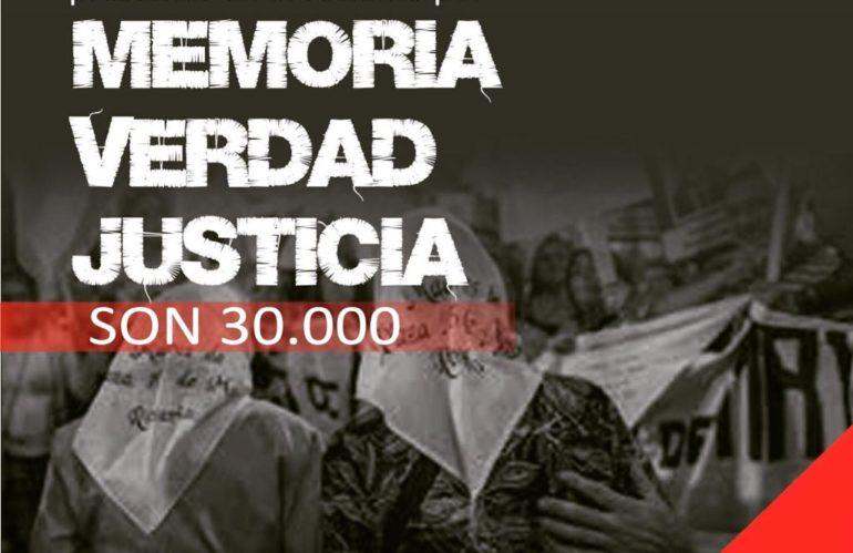 #24M Desde cada lugar siempre presentes en el reclamo por MEMORIA, VERDAD, JUSTICIA. Son 30.000