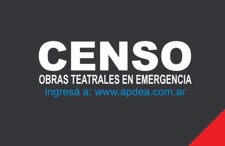 Censo de obras teatrales en emergencia (2020)
