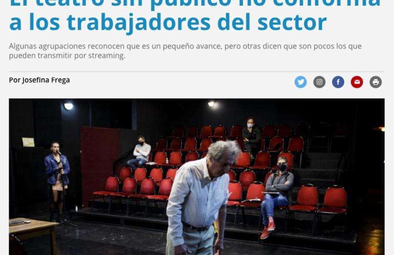Página 12. El teatro sin público no conforma a los trabajadores del sector.