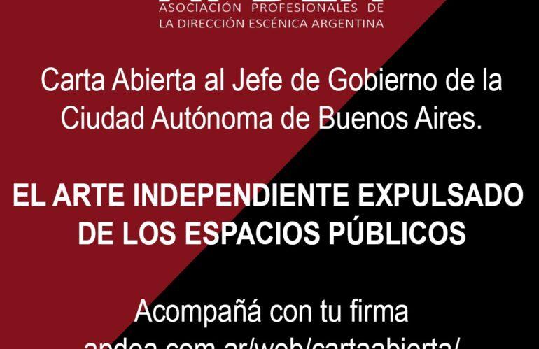 Carta abierta al Jefe de Gobierno de la Ciudad de Buenos Aires