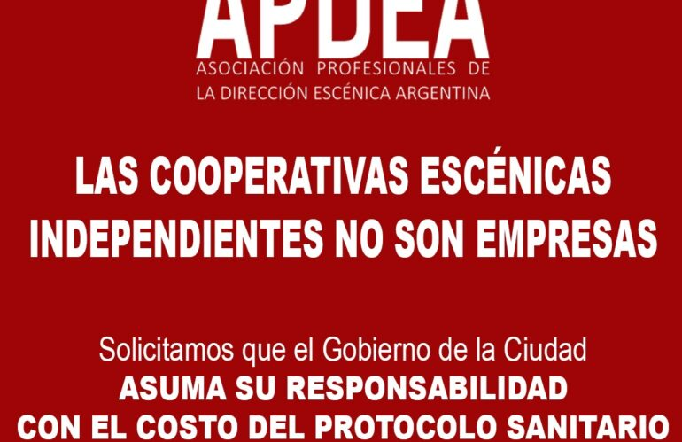 Las cooperativas escénicas independientes NO son empresas