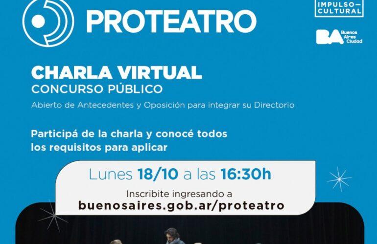 Apdea Informa: Proteatro Charla Virtual Concurso Público